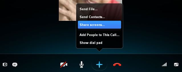 Sharing Screen on Skype
