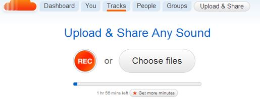 Upload the Songs In SoundCloud