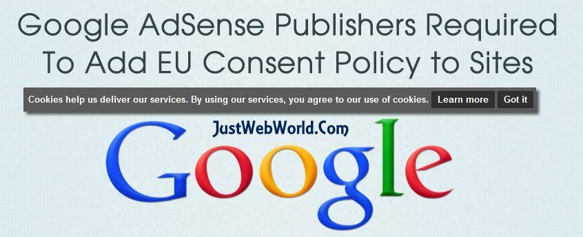 Google AdSense Publishers Consent Policy
