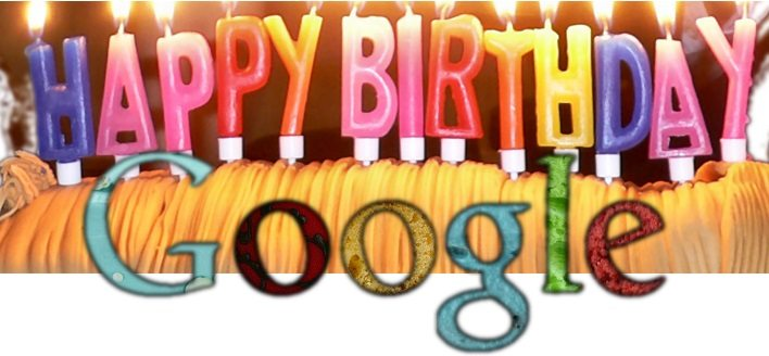 Happy Birthday Google Googles 15th Birthday   Happy Birthday Google