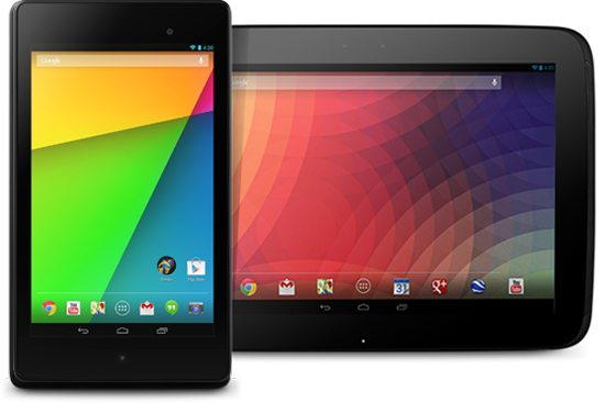 Google Nexus 7 and Nexus 10 Tablets