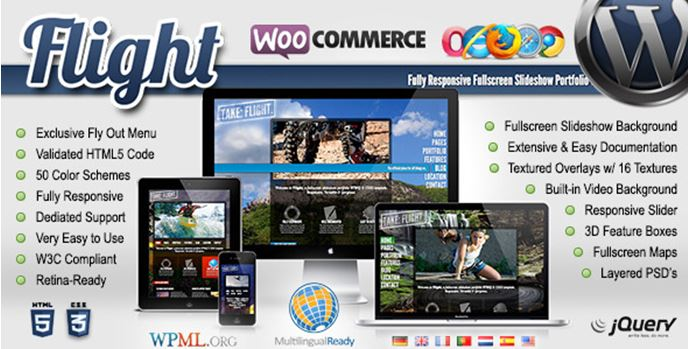 Flight WordPress Full Screen Theme