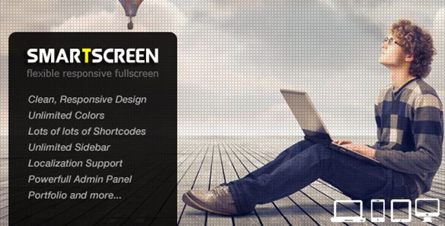 SmartScreen WordPress Full Screen Theme
