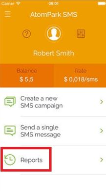 Atompark SMS App for iOS