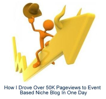 How I Drove Over 50K Pageviews to Event Based Niche Blog