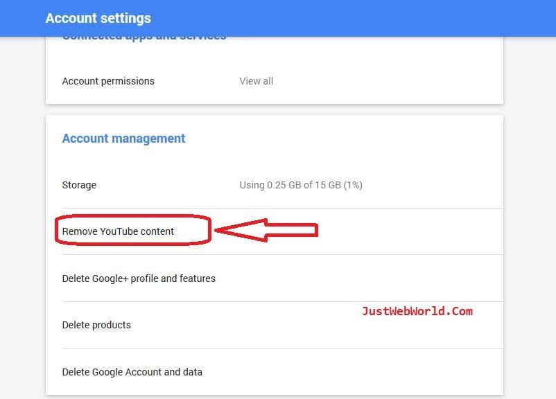 how to get a youtube account deleted