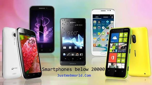 Smartphones below 20000