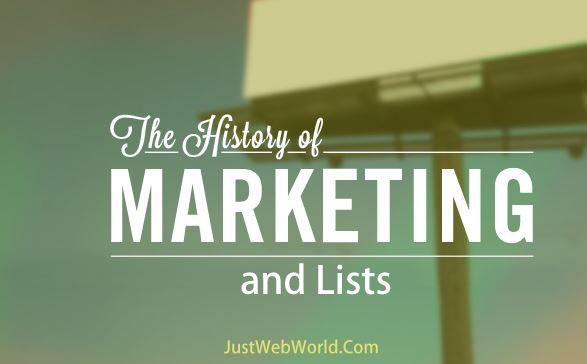 The History of Marketing and Lists