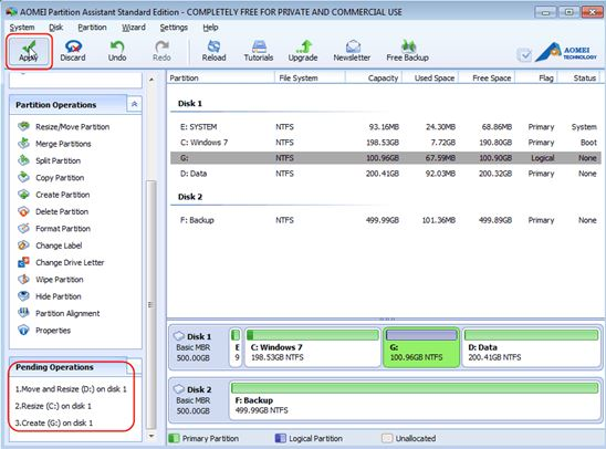 Partition Magic Freeware for Disk Management Windows 7