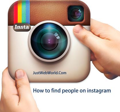 How to find people on instagram