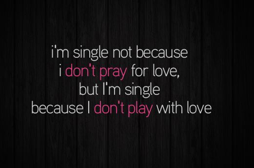 Why I am Single Pic