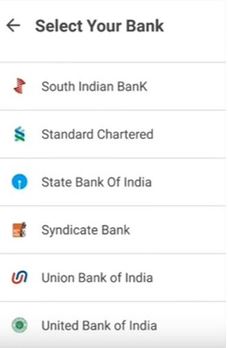 List of Bank Supports BHIM