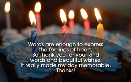 How to Say Thank You for Your Birthday Wishes Thank You Notes – Thank You Message for My Birthday Greetings