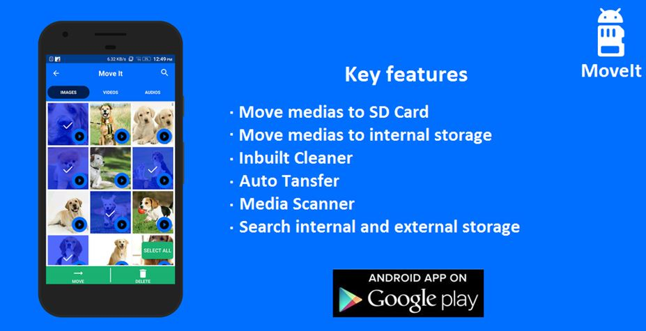 Key Features of MoveIt Android Application