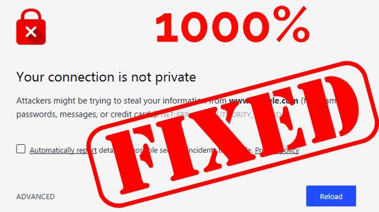 How to fix your connection is not private Error in Chrome