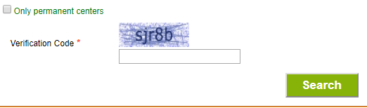 Enter the captcha in the empty field