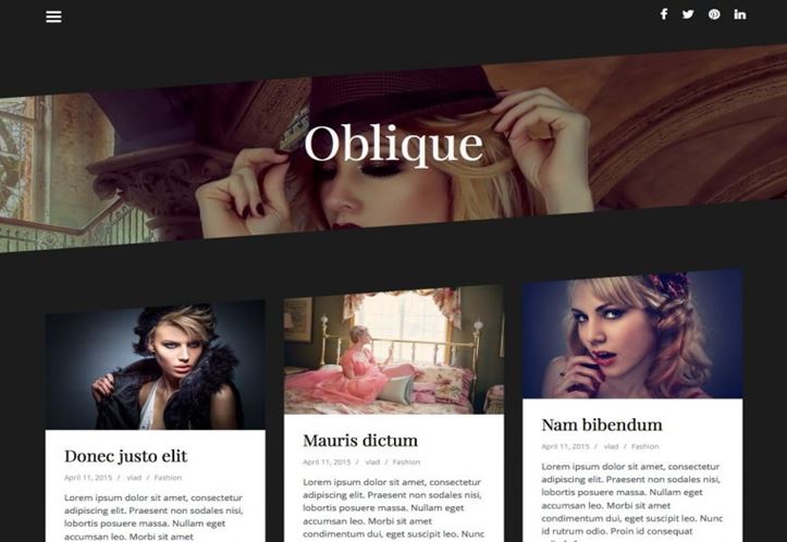 Oblique WordPress Theme