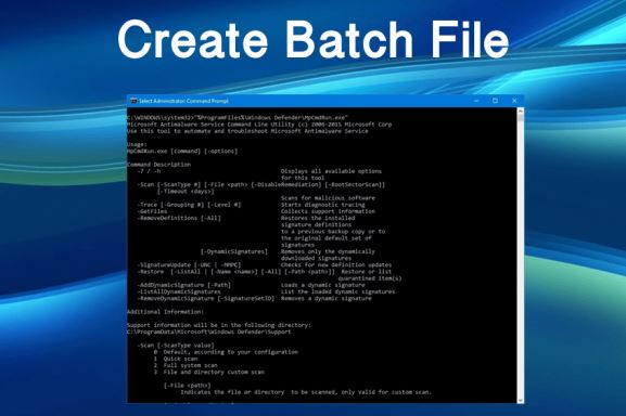 Creating DOS Batch Files