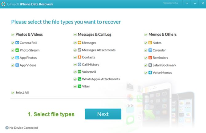 Gihosoft Free iPhone Data Recovery