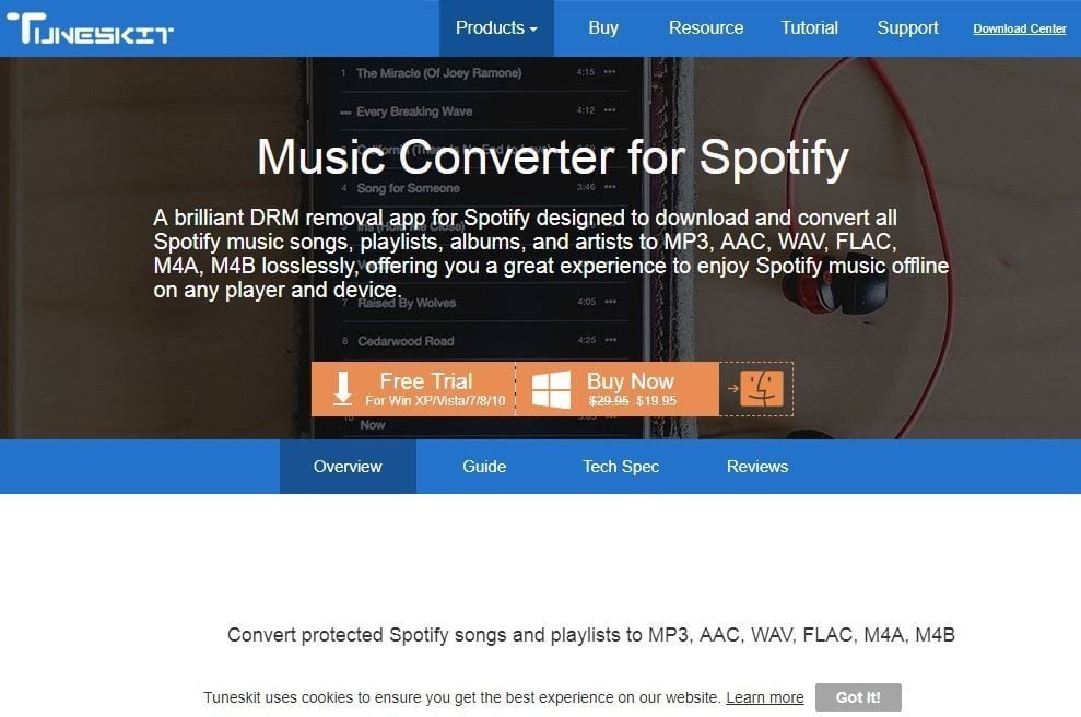 TunesKit Music Converter for Spotify