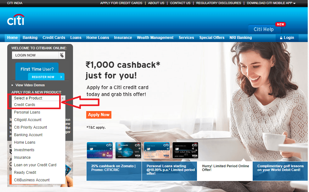 Apply Online for a Citibank Credit Card