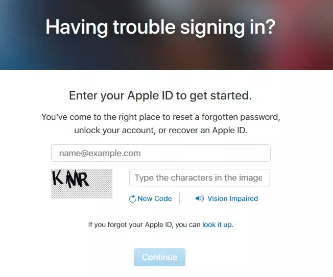 Reset iCloud Password From Your PC