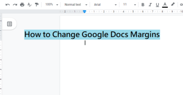 How to Change Google Docs Margins