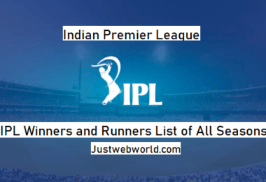 List of All IPL Winner Teams