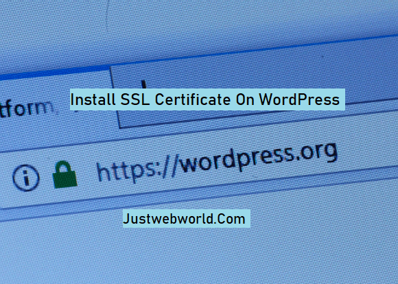 Install SSL Certificate on WordPress Website