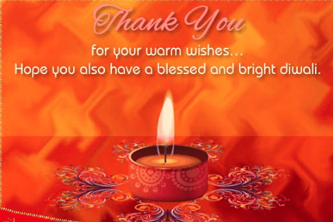 Reply to Happy Diwali Wishes