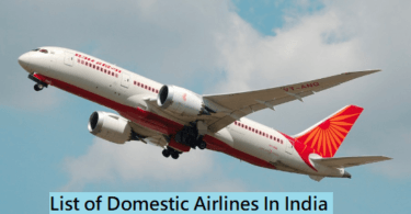 List of Domestic Airlines in India