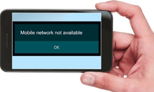 Mobile Network Not Available Error
