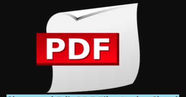 Share and Edit PDF Files In the Cloud
