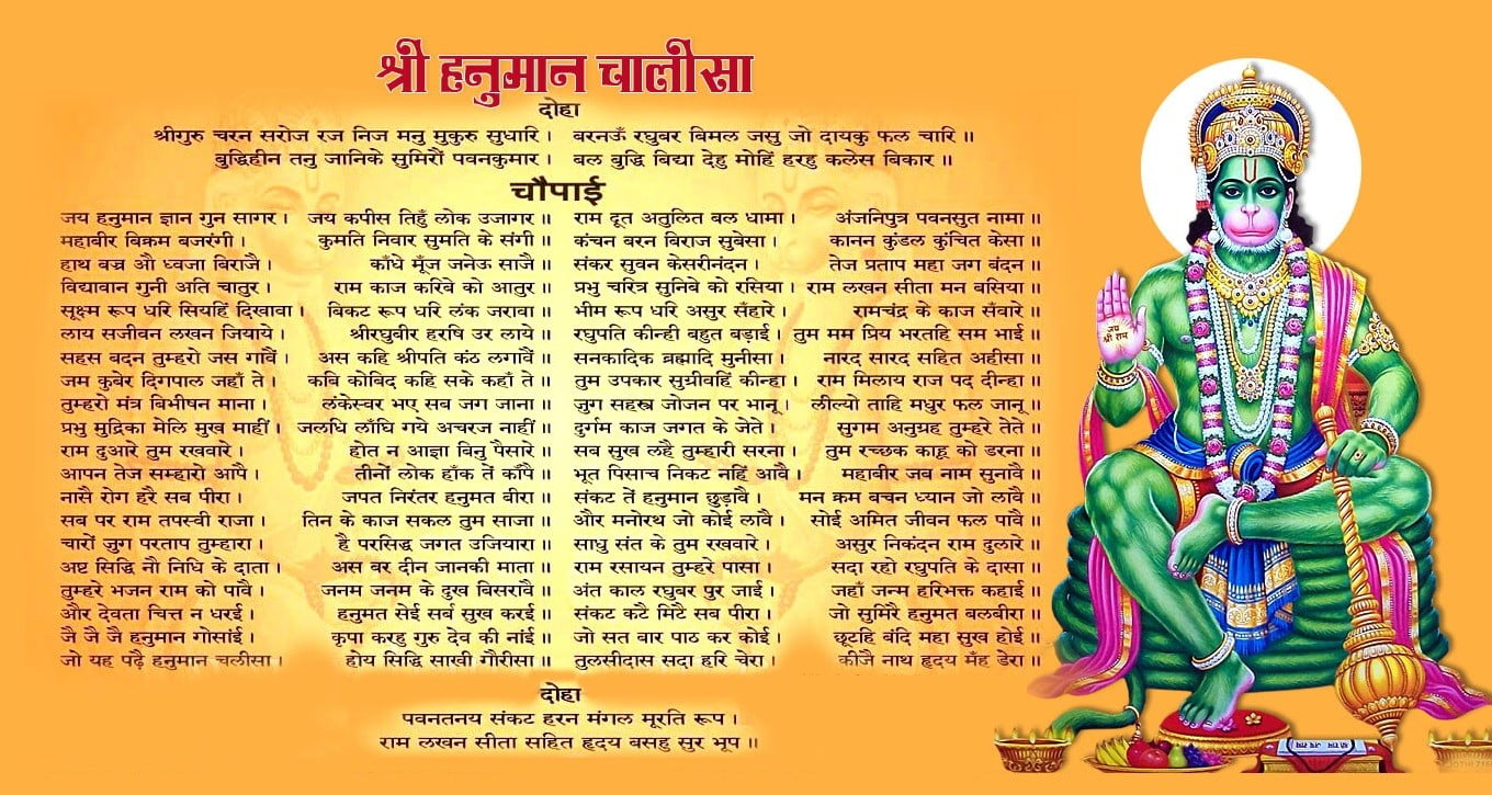Shree Hanuman Chalisa Lyrics in Hindi
