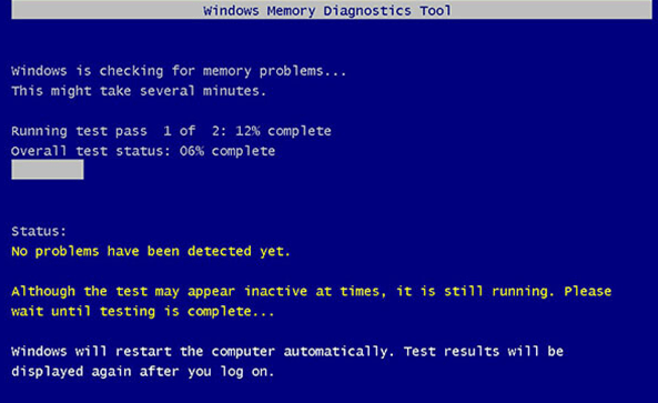 Windows Memory Diagnostics utility