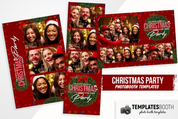 Christmas Party Photo Booth Template