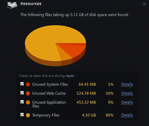Free Up Disk Space From Junk