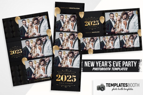 NYE Party Photo Booth Template