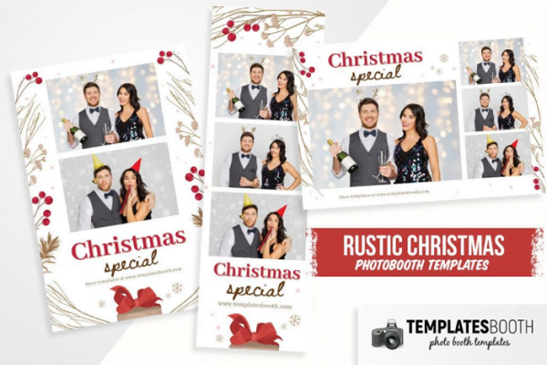 Rustic Christmas Photo Booth Template